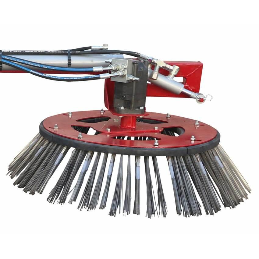 Brosse de désherbage pour balayeuse hydraulique